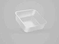 6.97 x 6.97 x 2.24 Inch (in) Size Square Polyethylene Terephthalate (PETE) Food Packaging Container (500596)