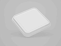 8.03 x 8.03 x 0.94 Inch (in) Size Square Polyethylene Terephthalate (PETE) Food Packaging Container (600019)
