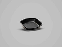 6.02 x 5.04 x 1.14 Inch (in) Size Oval Polypropylene (PP) Food Packaging Container (500831)